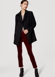 Back Pleat Peacoat