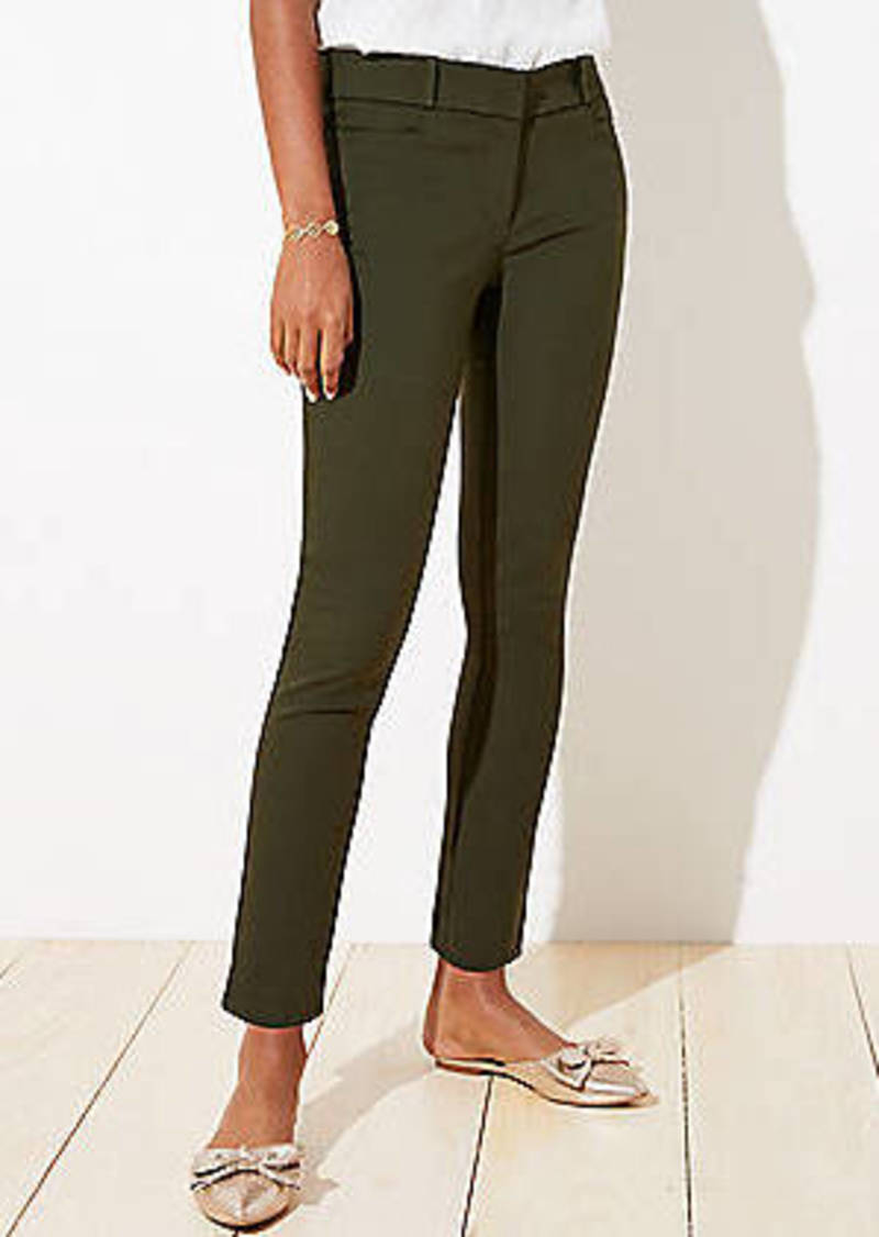 LOFT Back Slit Skinny Ankle Pants in Curvy Fit
