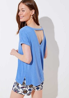 LOFT Bar Back Double V Tee