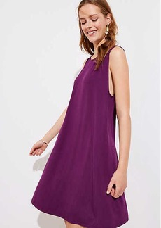 Bar Back Sleeveless Swing Dress