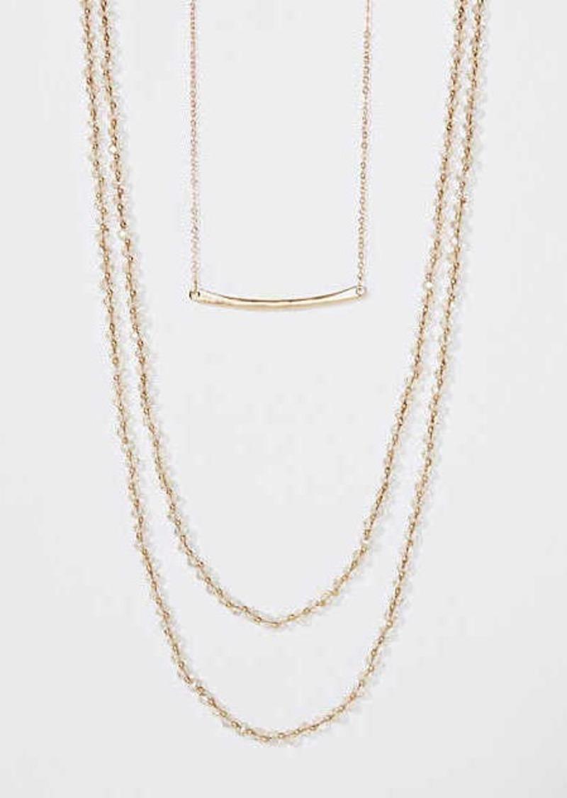 LOFT Bar Beaded Layering Necklace Set