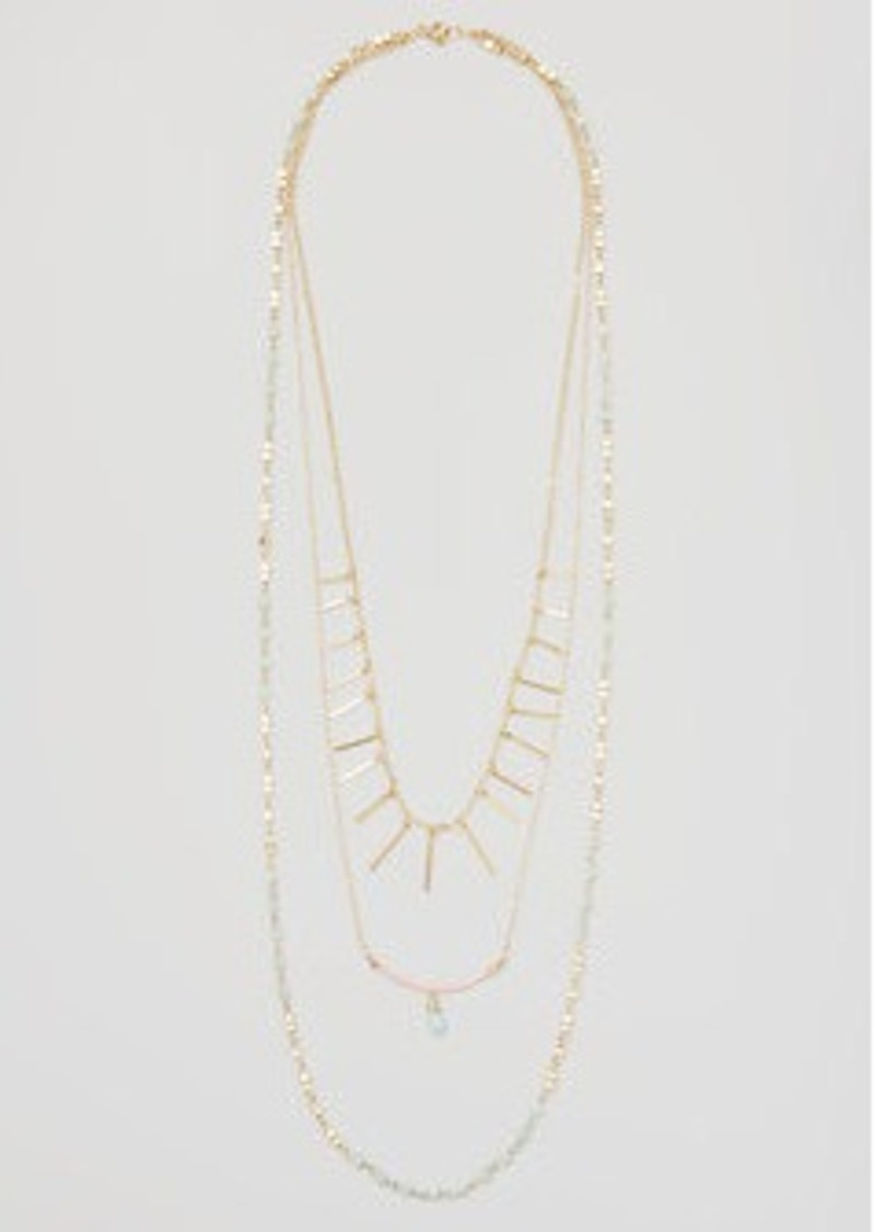 LOFT Bar Beaded Multistrand Necklace