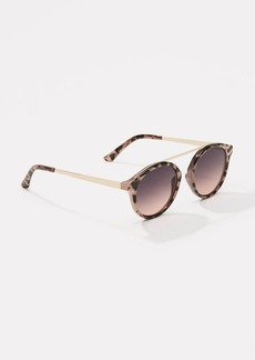 LOFT Bar Round Sunglasses