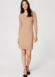 Basketweave Sweater Dress