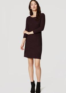 LOFT Basketweave Sweater Dress