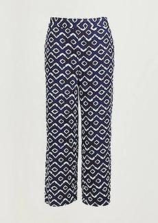 LOFT Batik Linen Blend Pull On Pants