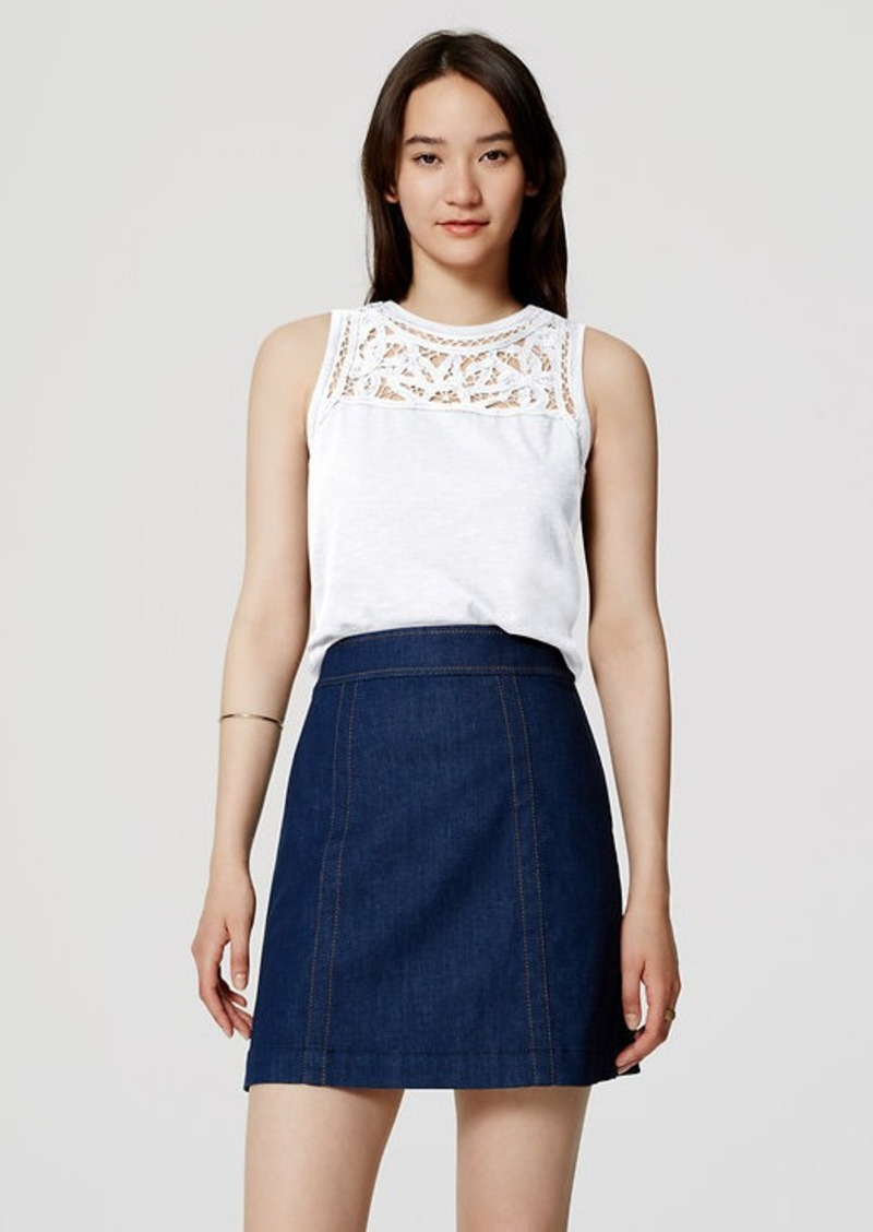 LOFT Battenburg Lace Tank