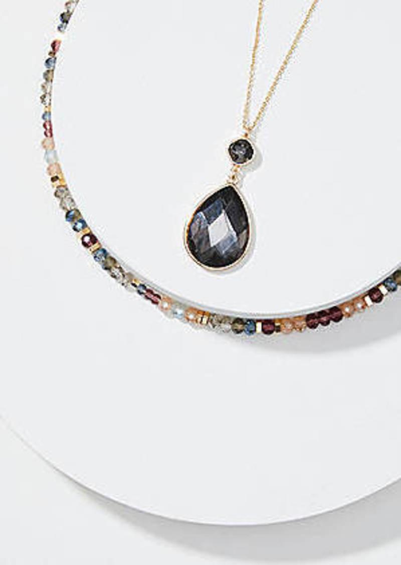 LOFT Bead & Pendant Necklace Set
