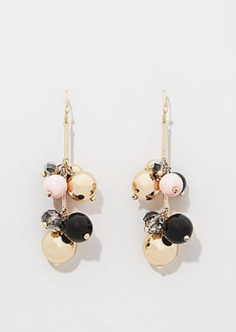 LOFT Bead Cluster Drop Earrings