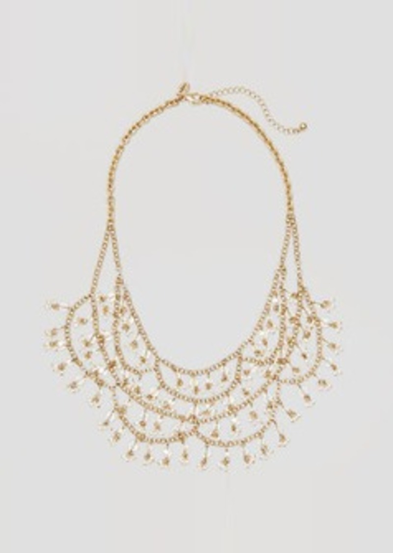 LOFT Beaded Bib Necklace