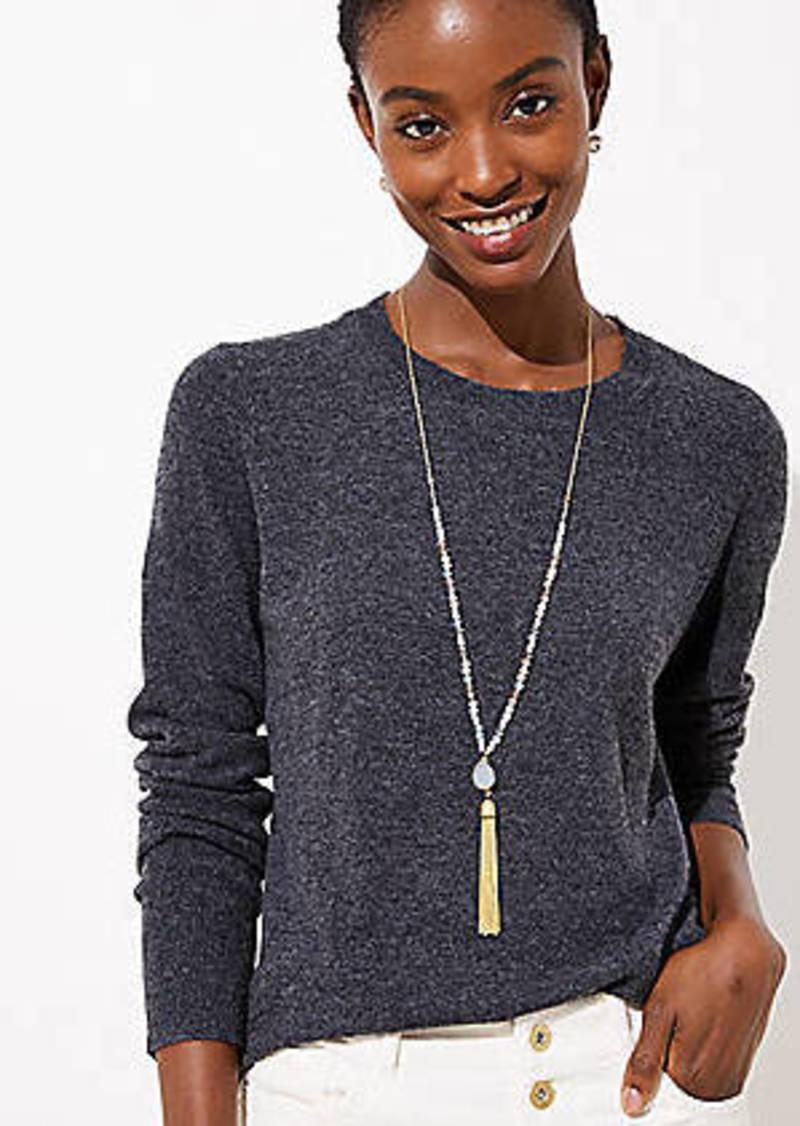 LOFT Beaded Chain Tassel Necklace