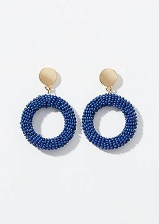 LOFT Beaded Circle Drop Earrings