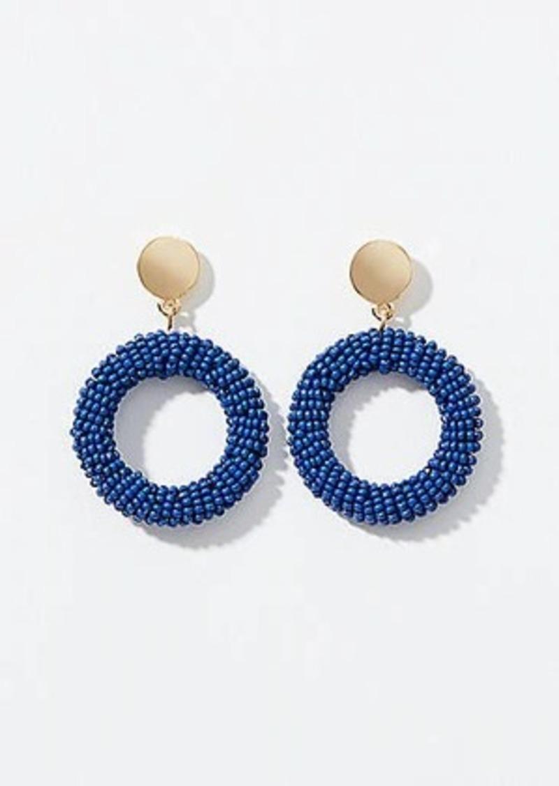 LOFT Beaded Circle Drop Earrings