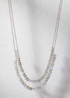LOFT Beaded Double Strand Necklace