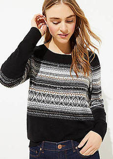 LOFT Beaded Fairisle Sweater