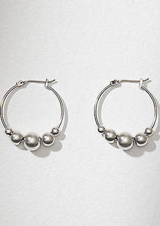 LOFT Beaded Hoop Earrings