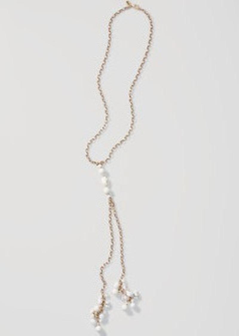 LOFT Beaded Lariat Necklace