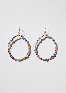 LOFT Beaded Loop Drop Earrings