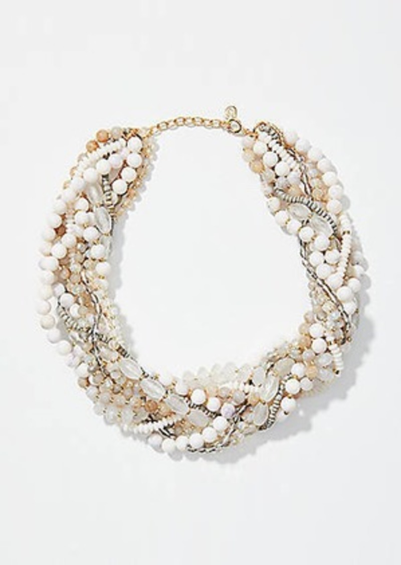 LOFT Beaded Multistrand Necklace