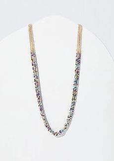 LOFT Beaded Multistrand Necklace
