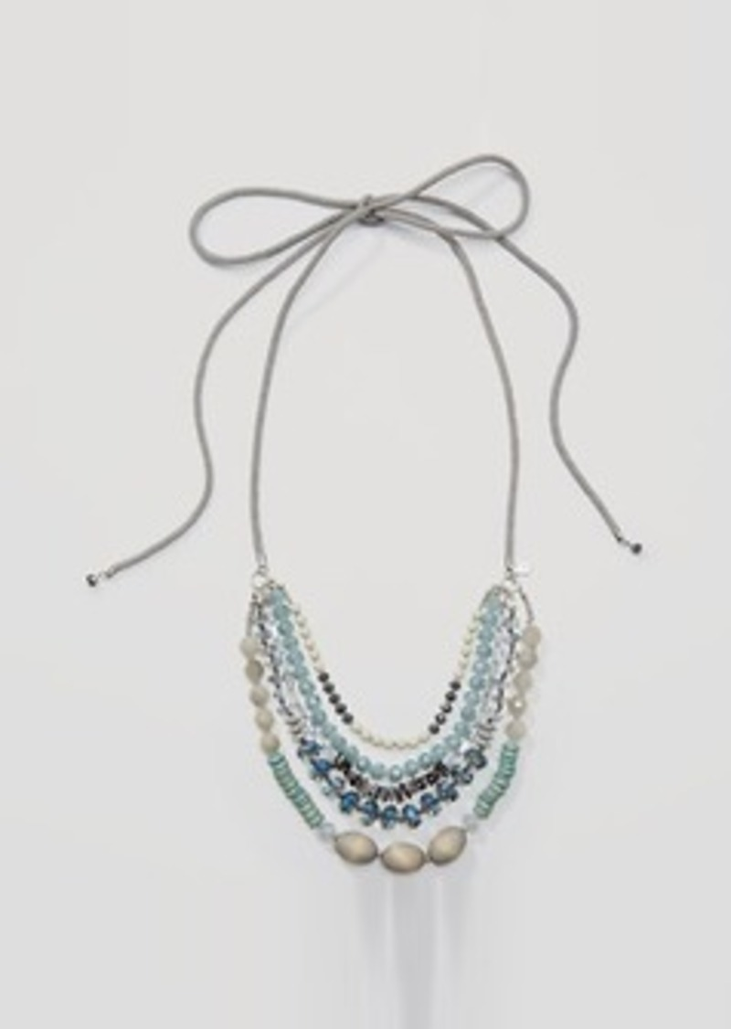 LOFT Beaded Multistrand Rope Necklace