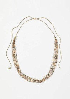 LOFT Beaded Multistrand Slider Necklace