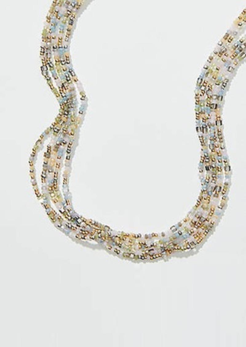 LOFT Beaded Multistrand Slider Necklace