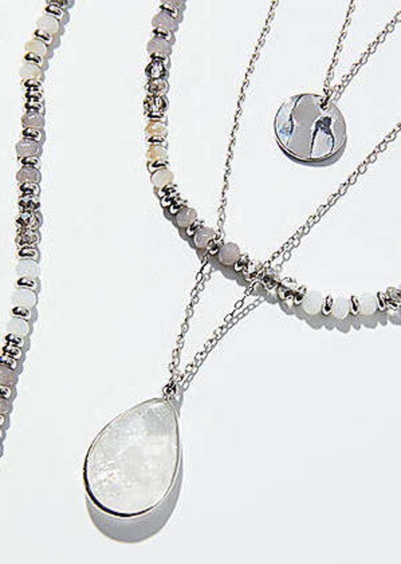 LOFT Beaded Pendant Necklace Set