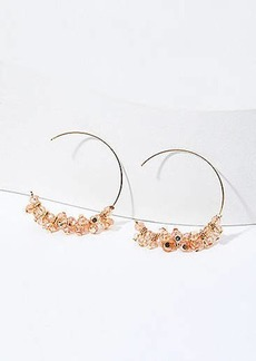 LOFT Beaded Pull Through Hoop Earrings