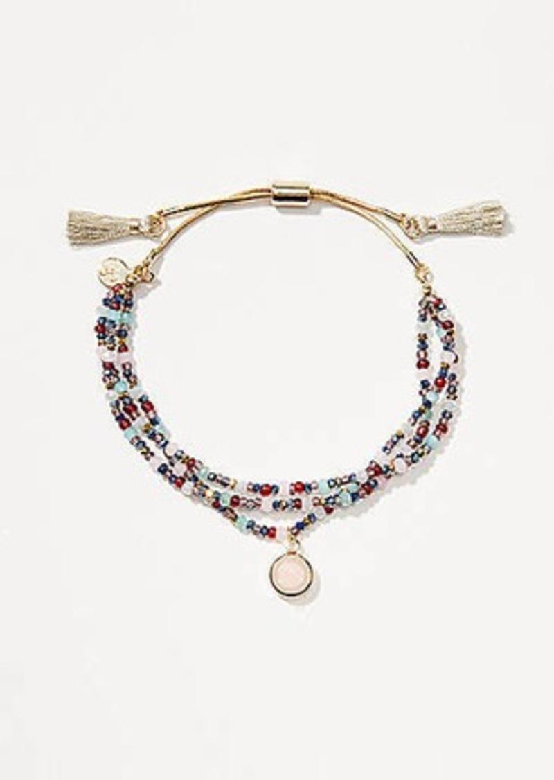 LOFT Beaded Pull Tie Bracelet