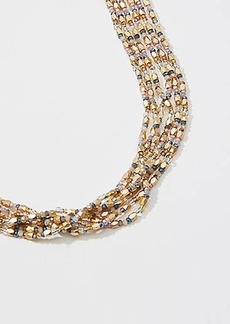 LOFT Beaded Pull Tie Necklace