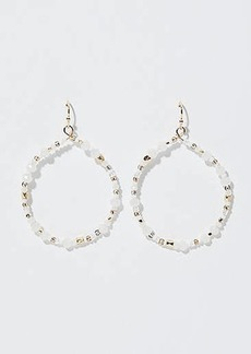 LOFT Beaded Ring Drop Earrings