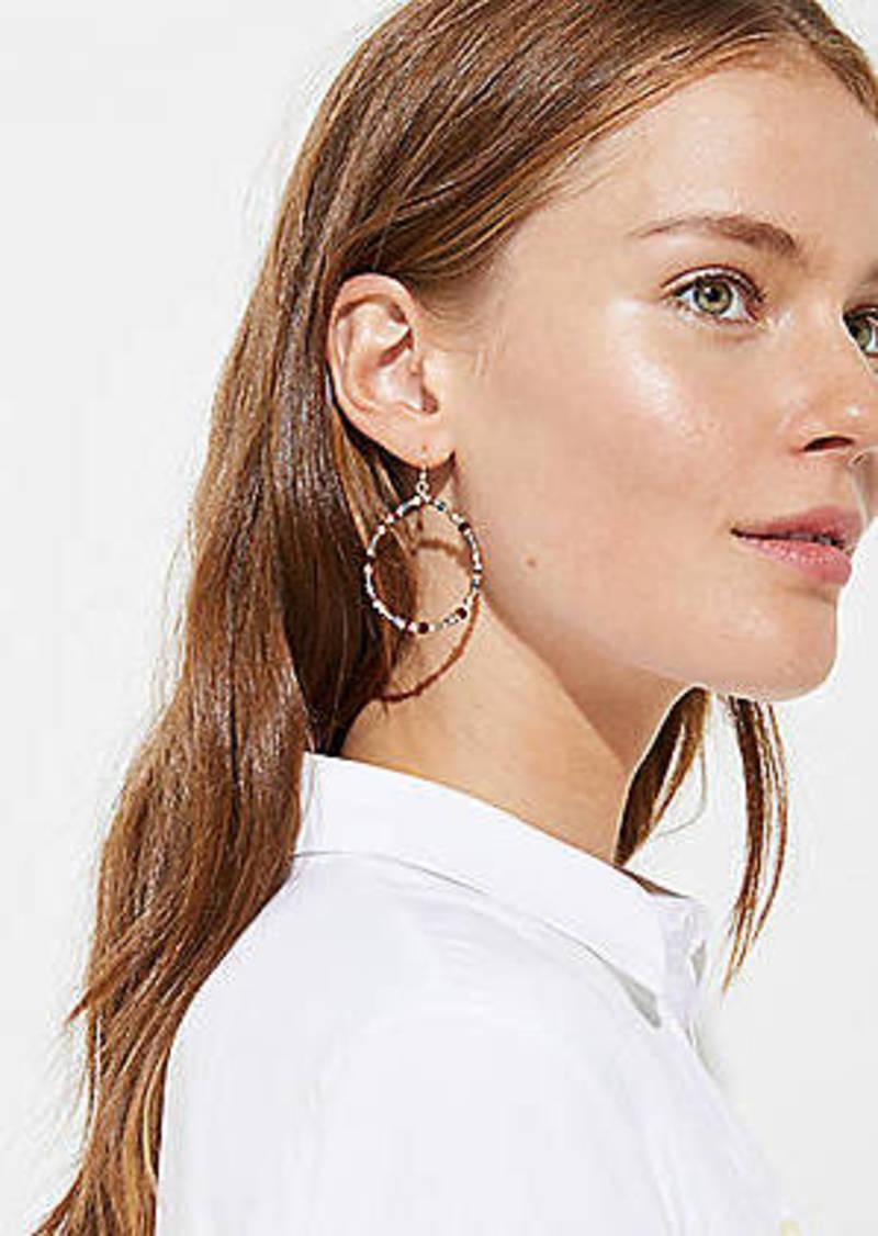 LOFT Beaded Ring Drop Earrings