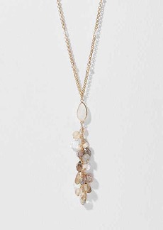 LOFT Beaded Stone Cluster Necklace