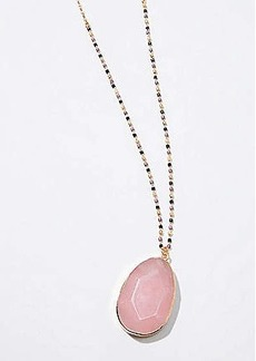 LOFT Beaded Stone Pendant Necklace