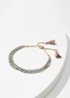 LOFT Beaded Tassel Bracelet