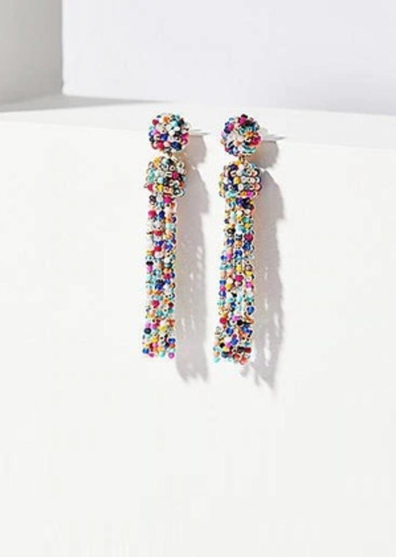 LOFT Beaded Tassel Drop Earrings