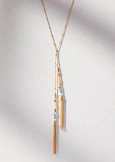LOFT Beaded Tassel Lariat Necklace