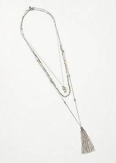 LOFT Beaded Tassel Necklace Set