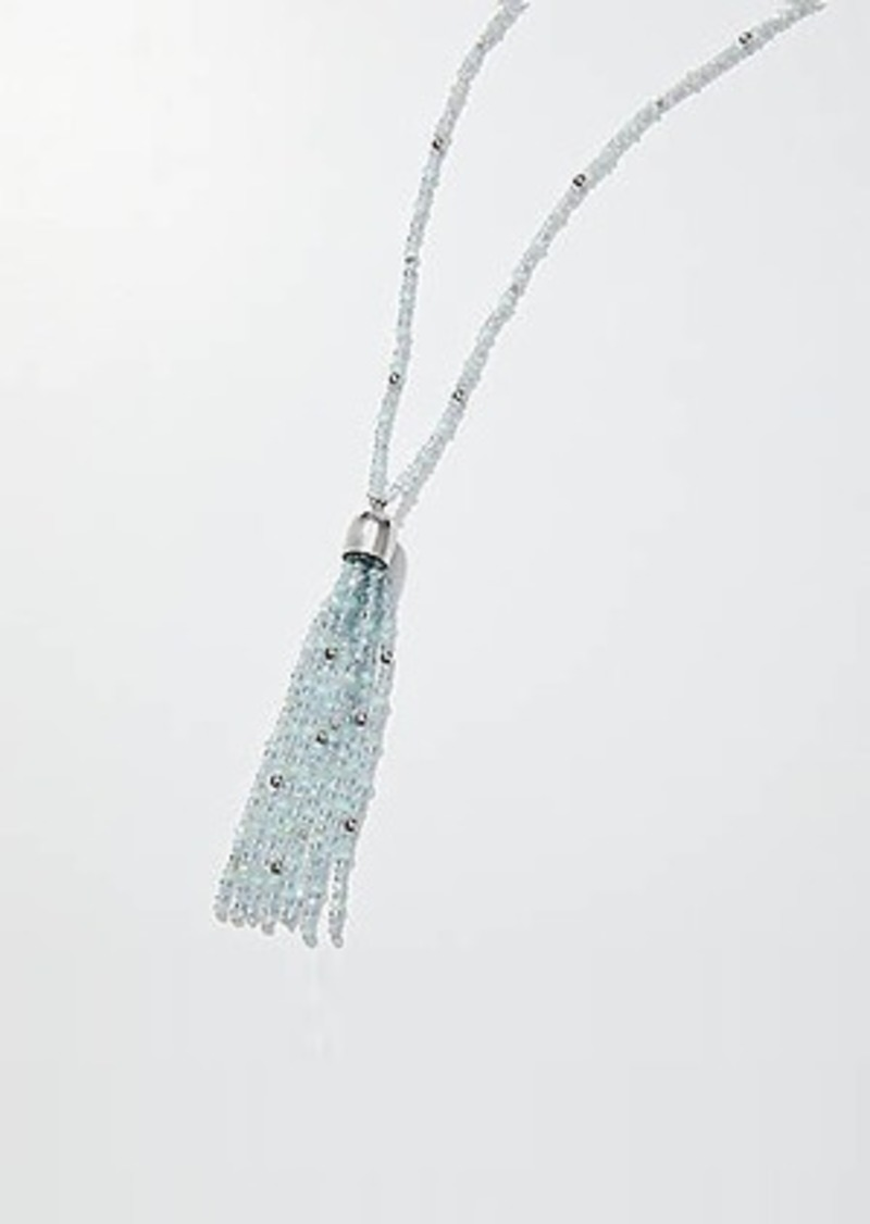 LOFT Beaded Tassel Pendant Necklace