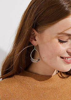 LOFT Beaded Teardrop Earrings