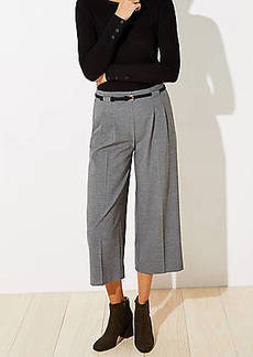 LOFT Belted High Waist Wide Leg Crop Pants