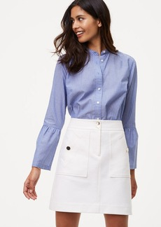 Bi-Stretch Buttoned Shift Skirt