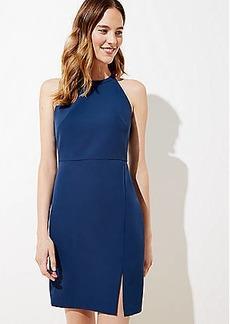 LOFT Bi-Stretch Halter Dress