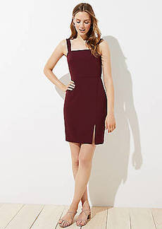 LOFT Strappy Square Neck Dress