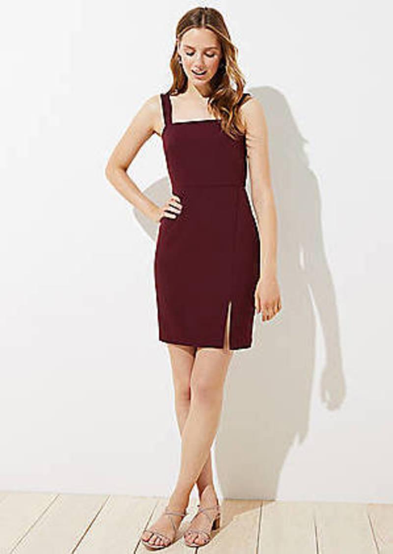 LOFT Strappy Square Neck Dress