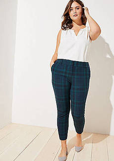 LOFT Plus Plaid Skinny Ankle Pants