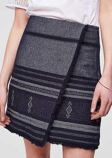 LOFT Blanket Jacquard Wrap Skirt
