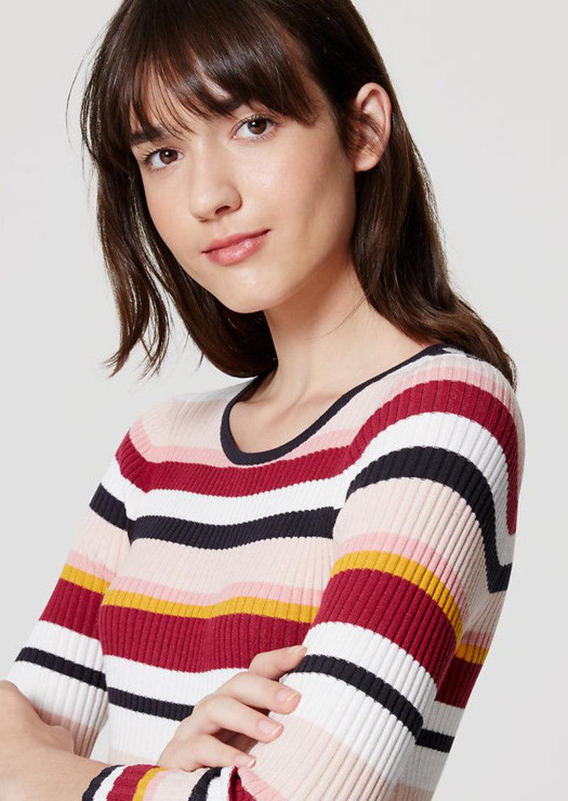 LOFT Blockstripe Ribbed Sweater