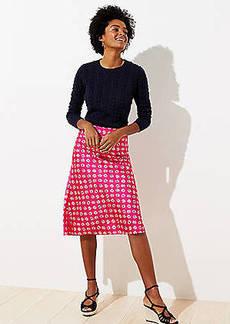 LOFT Bloom Midi Skirt